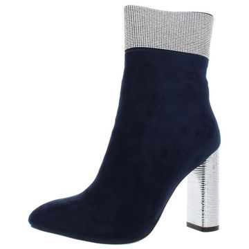 Seven Dials Womens Elina Faux Suede Almond Toe Ankle Boots