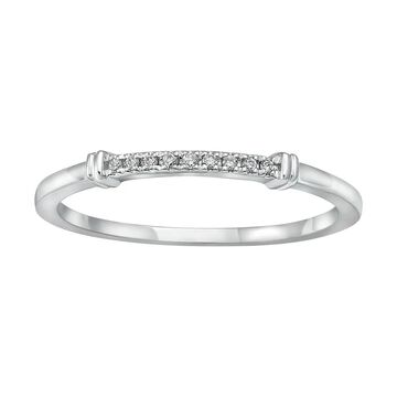 10kt White Gold Diamonds Band Ring by Beverly Hills Charm