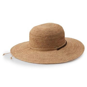 Women's Scala Raffia Big Brim Hat With Chin Cord