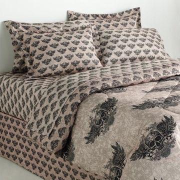 Veratex Winged Skull Reversible Comforter Set