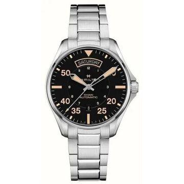 Hamilton Men's H64645131 'Khaki Aviation' Automatic Stainless Steel Watch