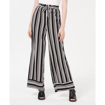 Juniors' Striped Wide-Leg Pants