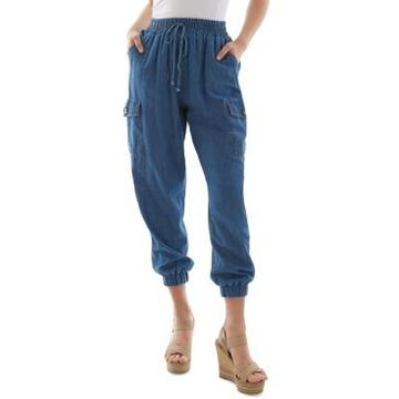 Bcx Juniors' Cotton Cargo Jogger Pants