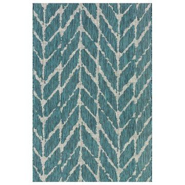 Loloi Rugs Isle Teal and Gray, 7'10