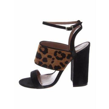 Suede Sandals Black