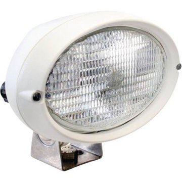 Hella 6361 Series 12V/55W Halogen Deck Floodlight, White Housing