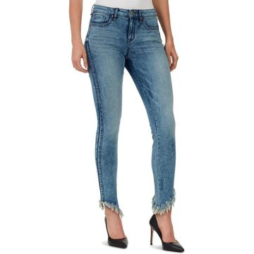 William Rast Womens Perfect Skinny Frayed Ankle Jeans