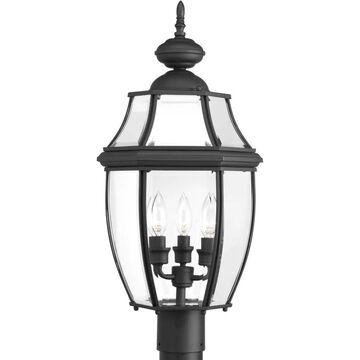 Progress Lighting New Haven 60-Watt 23-in Black Traditional Post Light   P6433-31