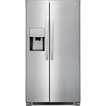 Frigidaire 22-cu ft Counter-Depth Side-by-Side Refrigerator with Ice Maker (EasyCare Stainless Steel)