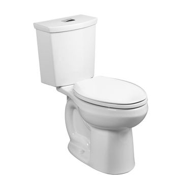 American Standard H2Option White WaterSense Dual Flush Elongated Chair Height 2-Piece Toilet 12-in Rough-In Size