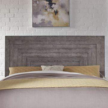 Liberty Dusty Charcoal Wood Modern Farmhouse King Panel Headboard