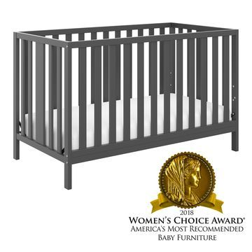 Storkcraft Pacific 4-in-1 Convertible Crib - Converts to Toddler Bed, Daybed, and Full-Size Bed, 3 Adjustable Mattress Heights