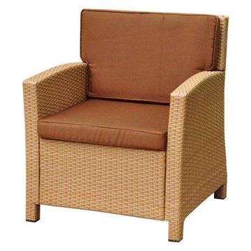 International Caravan Barcelona Patio Chair in Honey and Chocolate