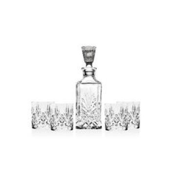 Shannon 5-Piece Whiskey Decanter Set