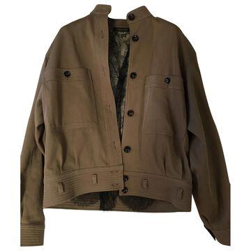 Roberto Cavalli Beige Cotton Jackets