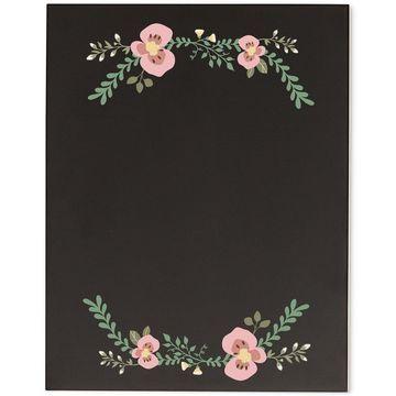 Floral Wedding Chalkboard Sign