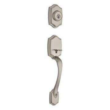 Kwikset Belleview Exterior Active Handleset, Satin Nickel