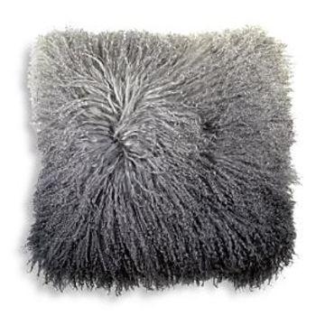 Michael Aram Dip Dye Curly Sheepskin Pillow, 18 x 18