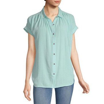 a.n.a Womens Short Sleeve Tunic Top