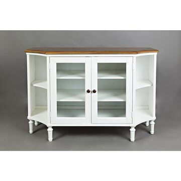 Castle Hill Display Server - Antique White and Oak