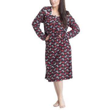 Muk Luks Printed Butter-Knit Long Nightgown