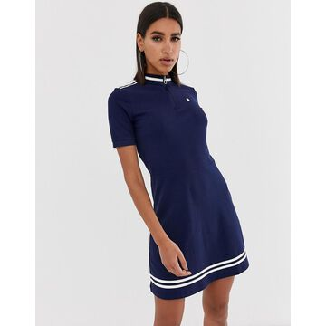 G-Star Cergy organic cotton fitted dress with high neck & zip-Multi