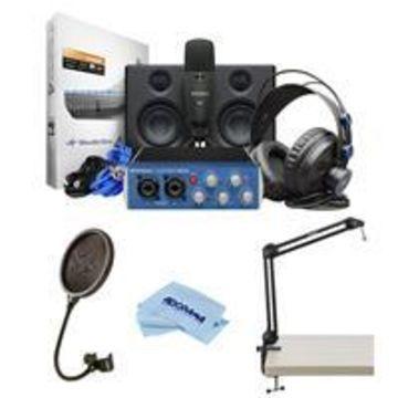 PreSonus AudioBox Studio Ultimate Bundle Deluxe Hardware/Software Recording Collection, Includes AudioBox USB 96 Interface, Eris E3.5 Nearfield Monitors (Pair), Studio One 3 Artist Software, M7 Microphone and HD7 Headphones