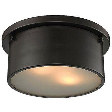 ELK Lighting Simpson Flushmount Light - Color: Bronze - Size: Small - 11810/2