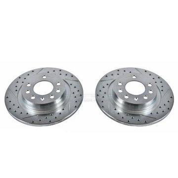 Power Stop AR82109XPR Evolution Drilled & Slotted Rotors -Rear