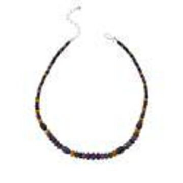 Mine Finds by Jay King Sterling Silver Multi-Color Sapphire Bead Necklace