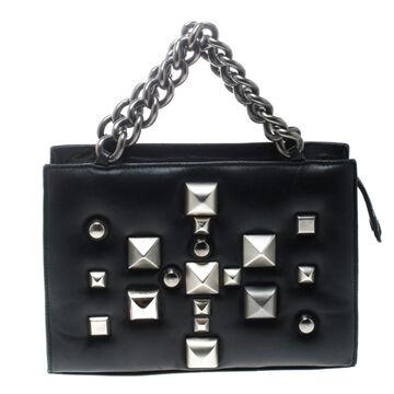 Roberto Cavalli Black Leather Handbags