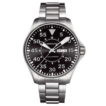 Hamilton Men's 'Khaki Pilot' Stainless Steel Watch - Black