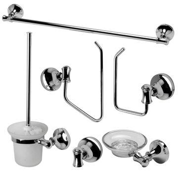ALFI brand AB9521-PC Polished Chrome 6 Piece Matching Bathroom Accessory Set