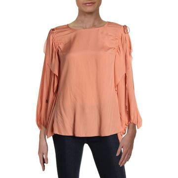 See by Chloe Womens Silk Blend Night Out Blouse