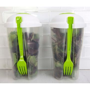 Home Basics Clear 2-pack Salad To Go Container Set