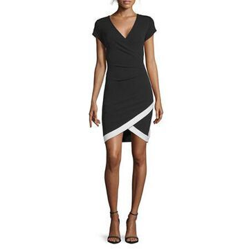 Almost Famous-Juniors Short Sleeve Bodycon Dress