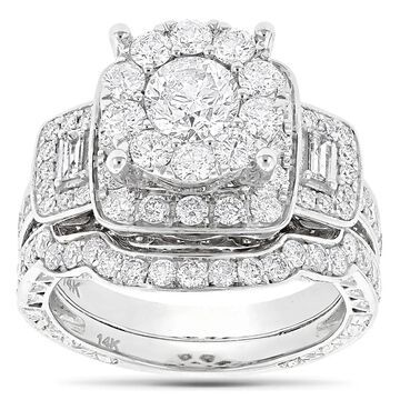 Luxurman 14k Gold 3ct TDW Diamond Engagement Ring