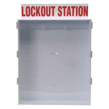 BRADY 50996 Lockout Station,Unfilled,Red/White