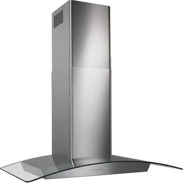 Broan 36-Inch 500 CFM Curved Glass Canopy Wall-Mount Range Hood with Heat Sentry - Stainless Steel (EW5636SS)