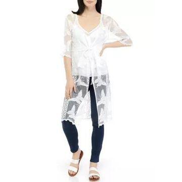 American Rag Women's Elbow Sleeve Lace Kimono -