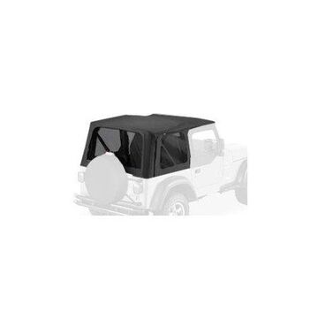 Bestop 79124-01 Jeep Wrangler with Door Skins/Tinted Windows Sailcloth Replace-A-Top, Black