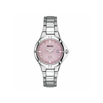 Seiko Womens Silver Tone Stainless Steel Bracelet Watch-Sut315