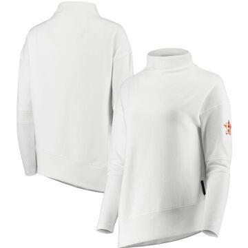 Women's Levelwear White Houston Astros Lana Mock Neck Pullover Sweatshirt