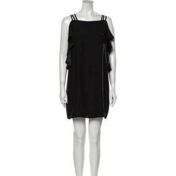 Silk Mini Dress w/ Tags Black