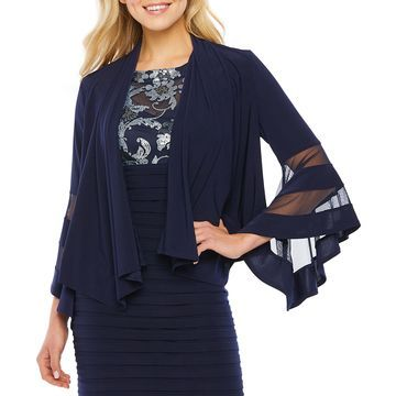 R & M Richards Womens 3/4 Bell Sleeve Shrug