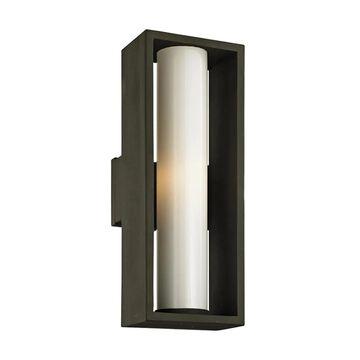 Troy Lighting Mondrian 23.25-in H Textured Bronze Medium Base (E-26) Outdoor Wall Light | B6493