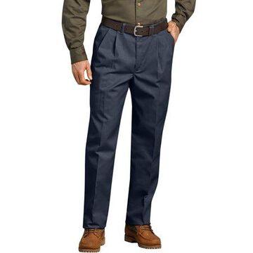 Men's Pleated Comfort-Waist Work Pants