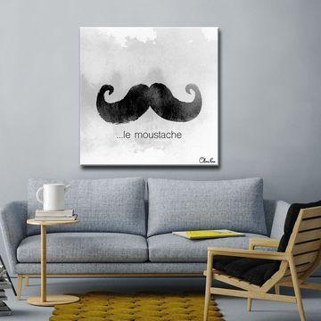 Ready2HangArt 'e Moustache' Textual Canvas Art