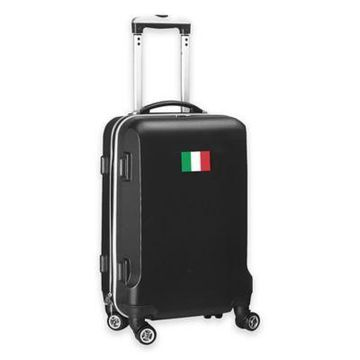 Denco Mojo Italy Flag 21-Inch Hardside Spinner Carry-On Luggage in Black