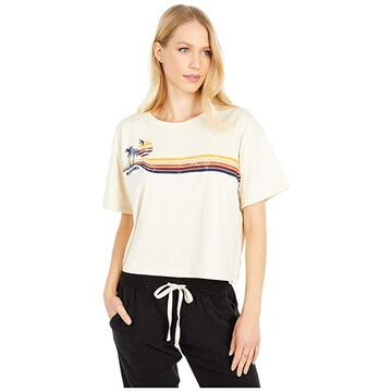 Rip Curl Golden Days Crop Tee (Off-White) Women's Clothing